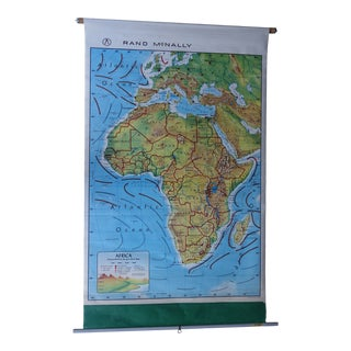 Vintage Africa Wall Map of Ivory Coast For Sale