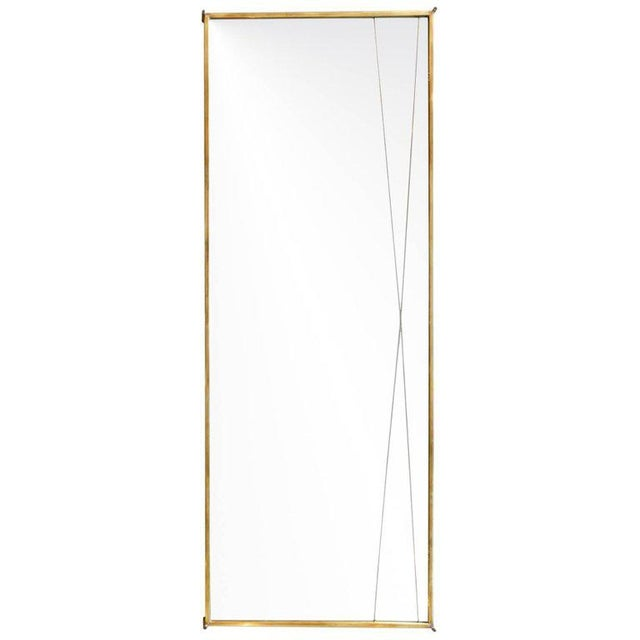 Brass Brass 'X' Mirror by Paul McCobb for Bryce Originals, 1956 For Sale - Image 7 of 7