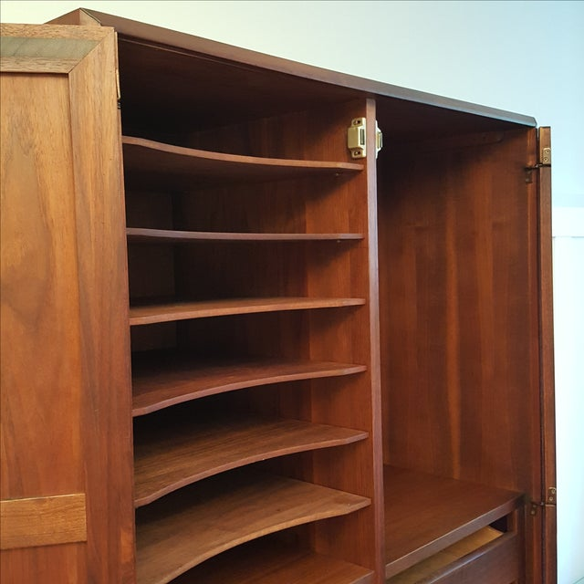 Mid-Century Knoll Attributed Caned Cabinet - Image 4 of 6