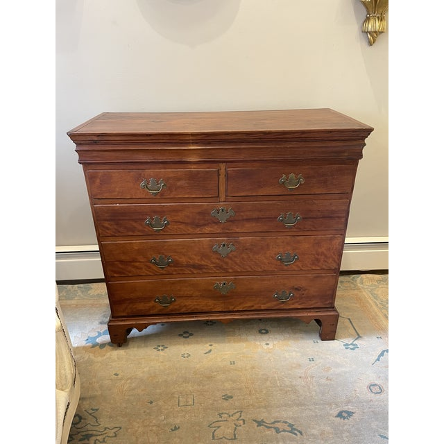 Brown Antique Chippendale Chest or Drawers For Sale - Image 8 of 8