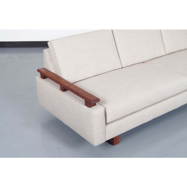 Mid Century Modern Walnut Sofa - Image 3 of 6