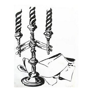 Candelabra Study in Black & White by A. Bessette For Sale