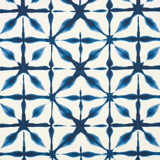 Schumacher Andromeda Wallpaper in Blue , Sample For Sale