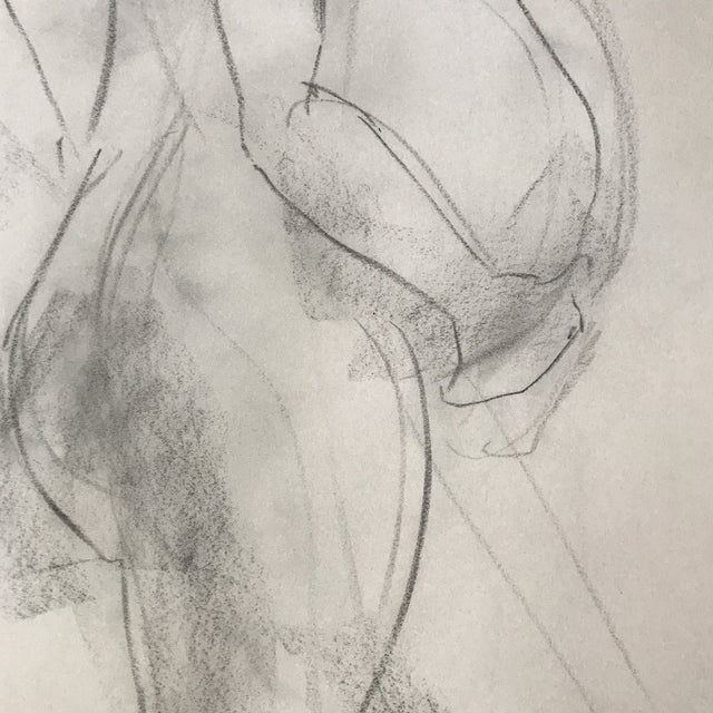 Standing Pregnant Nude Drawing For Sale - Image 4 of 4