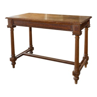 Antique French Carved Wood Empire Style Table Ca. 1900 For Sale