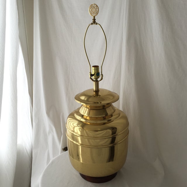 Vintage Brass Lamp For Sale - Image 5 of 6