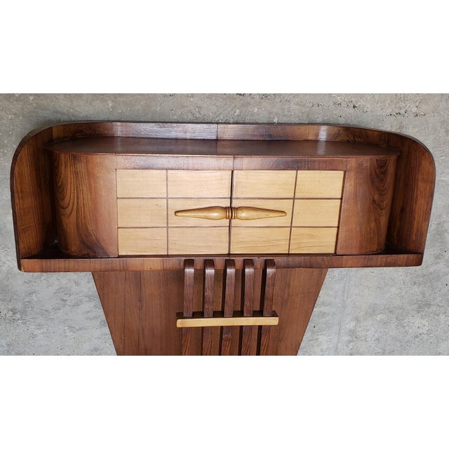 1930s French Art Deco Streamline Moderne Console For Sale - Image 10 of 12