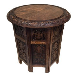 Teak Carved Round Table