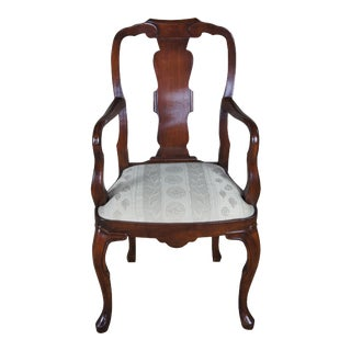 Antique Georgian Style Mahogany Arm Chair Queen Anne Dining Accent For Sale