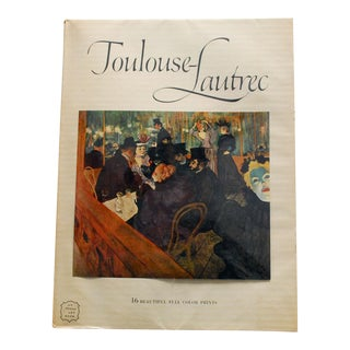 1950s Toulouse-Lautrec Art Book With 16 Prints For Sale