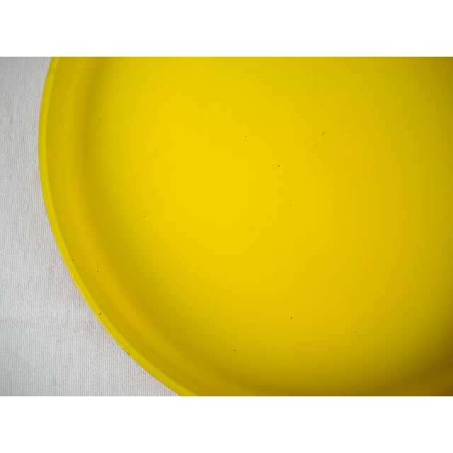 Op Art Yellow Orange Serving Tray For Sale In Orlando - Image 6 of 9