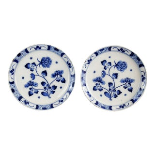 18th Century Chinoiserie Delft Plates - A Pair