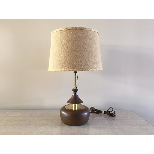 Vintage Laurel Walnut Teardrop Table Lamp - Image 2 of 7