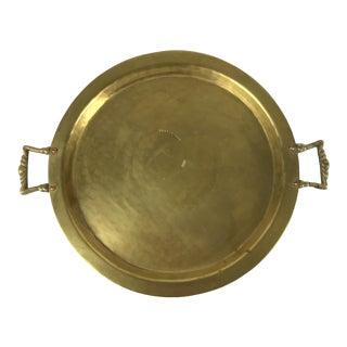 Hand Hammered Brass & Copper Russian Samovar Tray