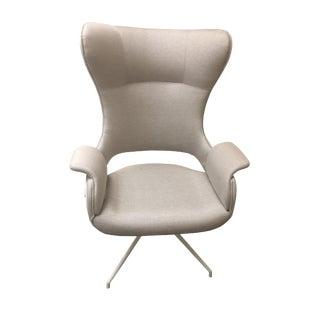 """Upholstered Modern Swivel Armchair """"Lemoine"""" For Sale"""