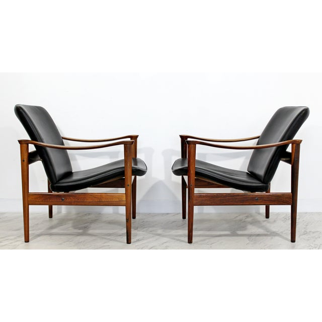 Mid Century Modern Pair Model 711 Easy Chairs Fredrik Kayser Vatne Mobler 1960s For Sale In Detroit - Image 6 of 11