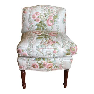 1990s Traditional Custom Boudoir Chair For Sale
