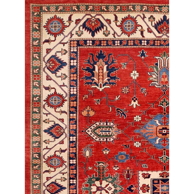 "Red Kazak Area Rug - 9'1"" X 11'8"" - Image 2 of 2"