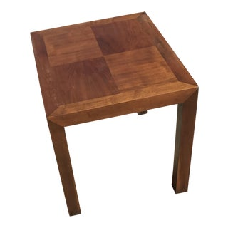 Signed Lane Mid-Century Parsons Walnut Side Table