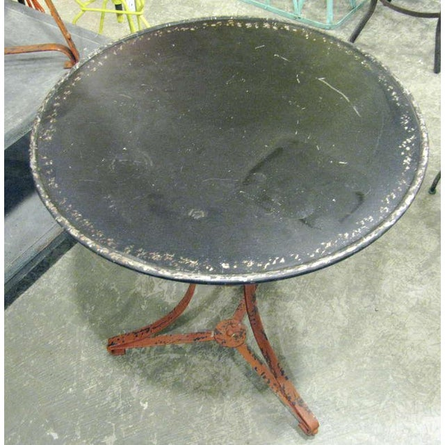 French One Pair of French Garden Tables With Old Worn Painted Finish For Sale - Image 3 of 4