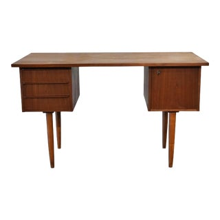 "Danish MCM Teak Desk - ""Thyholm"""