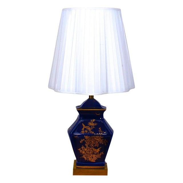 Cobalt Blue Ceramic Table Lamp - Image 1 of 4