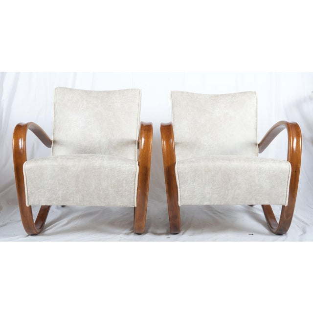 H269 Lounge Chair by Jindrich Halabala for Thonet, 1930s - A Pair For Sale - Image 11 of 11