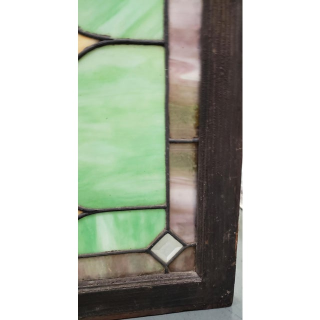 Late 19th Century 19th Century Stained Glass Victorian House Number Window Panel C.1880 For Sale - Image 5 of 12