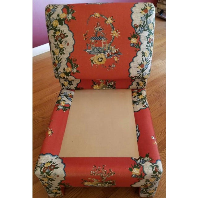 Vintage Chinoiserie Accent Chairs - A Pair For Sale - Image 4 of 11