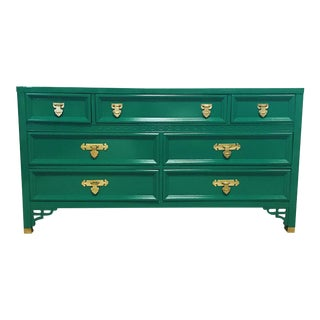 Jade Lacquered Shangri-La Dresser For Sale