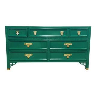 Jade Lacquered Shangri-La Dresser For Sale
