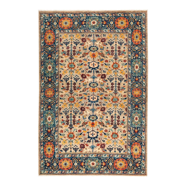 """Ziegler Hand Knotted Area Rug - 6' 2"""" X 9' 2"""" - Image 1 of 4"""