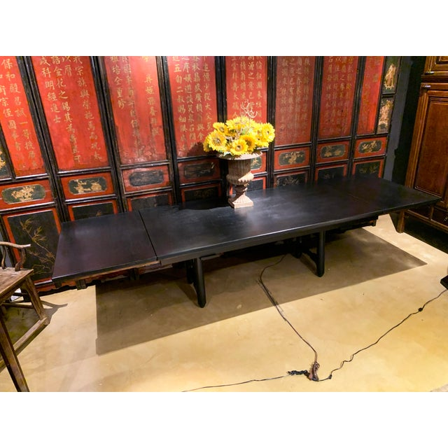Mid-Century Modern Extension Dining Table Attributed to Guillerme Et Chambron For Sale - Image 12 of 12