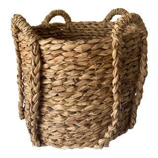 Very Large Seagrass Log Basket From Mecox Gardens For Sale