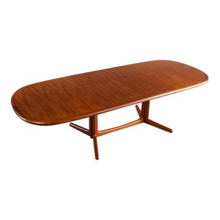 1960s Danish Modern Dyrlund Teak Extension Dining/Conference Table For Sale