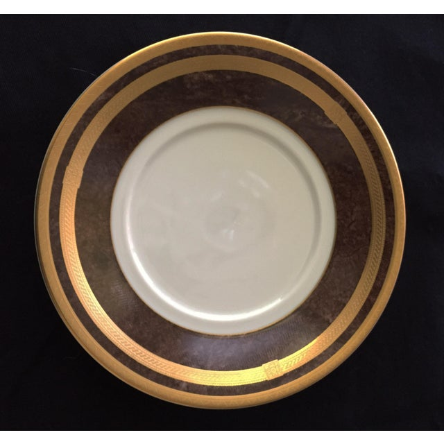 Mahogany Florentine Luncheon or Dessert China Set - 18 Pieces For Sale - Image 9 of 13