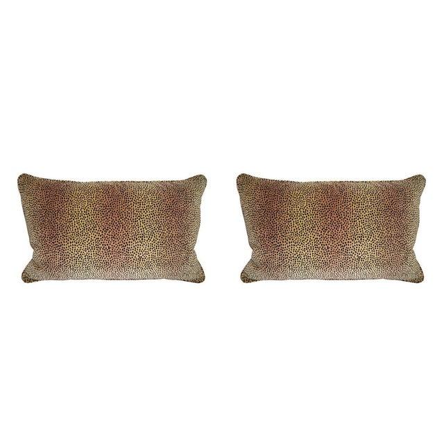 Kravet Baby Cheetah Velvet Pillows - A Pair - Image 1 of 4