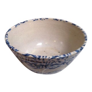 Large 19th Century Design Spongeware Mixing Bowl For Sale