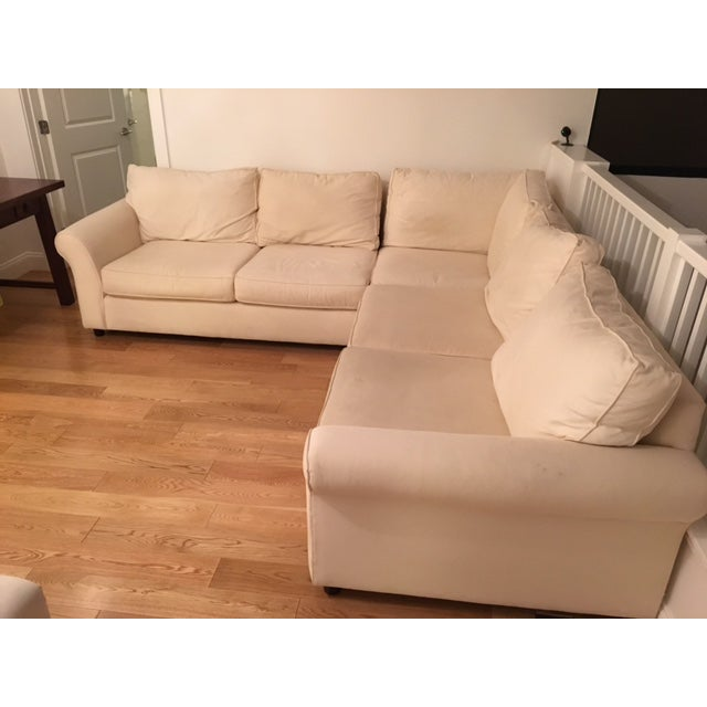 Pottery Barn L-Shape Upholstered Sectional - Image 2 of 5