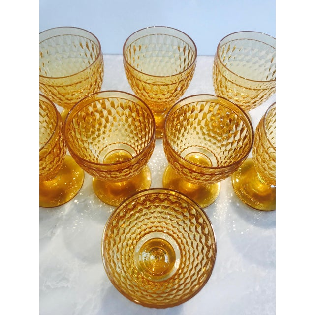 Villeroy & Boch Vintage Crystal Amber Colored Wine Glasses by Villeroy & Boch, Set of Eight For Sale - Image 4 of 13