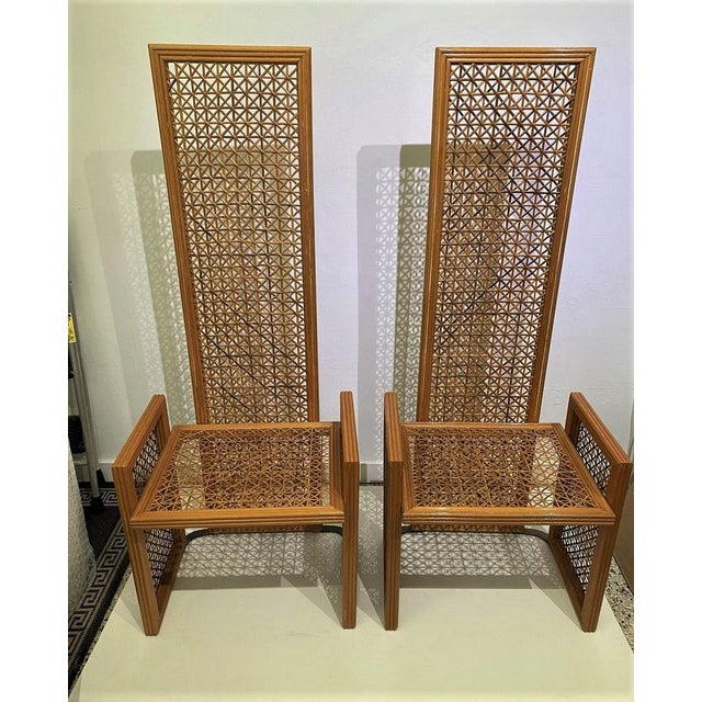 Vintage Viva Del Sud for Casa Bique Wicker Chairs -A Pair For Sale In West Palm - Image 6 of 13