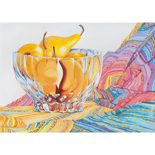 Sidnii Woods Still Life of Boscobel Pears 1990 For Sale - Image 9 of 9