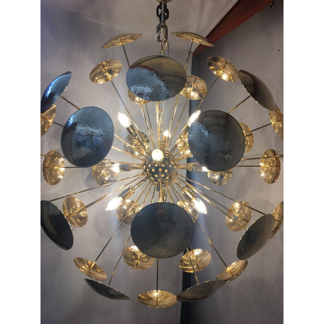 Gold 24k Metal frame Chandelier. Unique and rare Gold 24k Metal frame Chandelier sputnik chandelier. Only one piece metal...