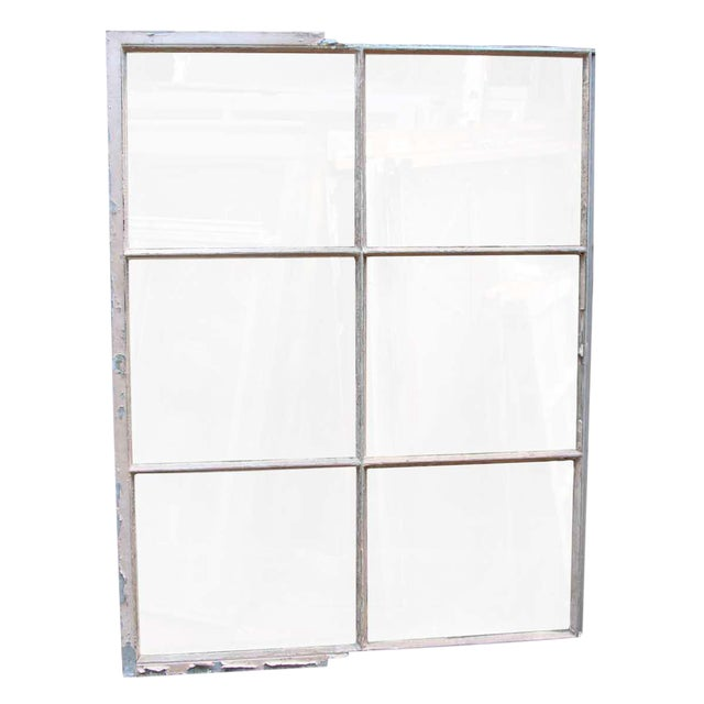 Industrial 6 Pane Steel Frame Glass Window For Sale