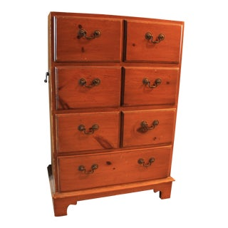 Vintage Alfred Assid Walnut Accent Chest For Sale