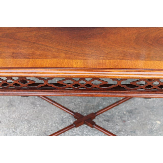 1970's Traditional Carved Wood Side Tables - A Pair - Image 9 of 11