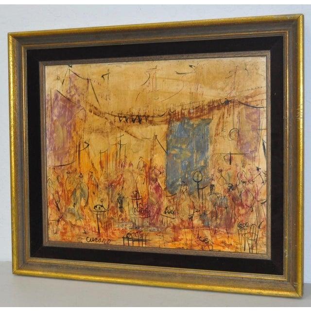 Pascal Cucaro (1915-2004) Original Painting c.1970s Original oil on masonite by celebrated California artist Pascal...