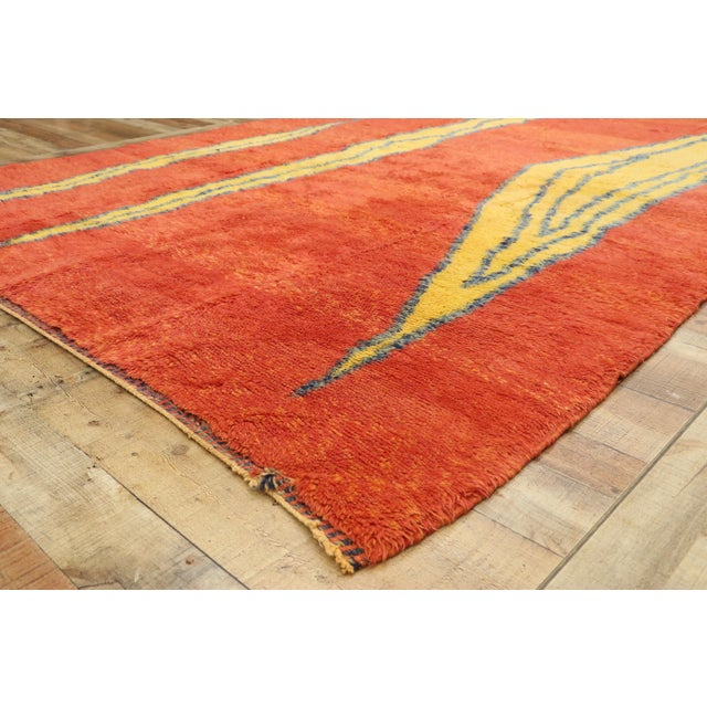 Moroccan Contemporary Rug Inspired by Paul Klee - 07'01 X 09'09 For Sale In Dallas - Image 6 of 10