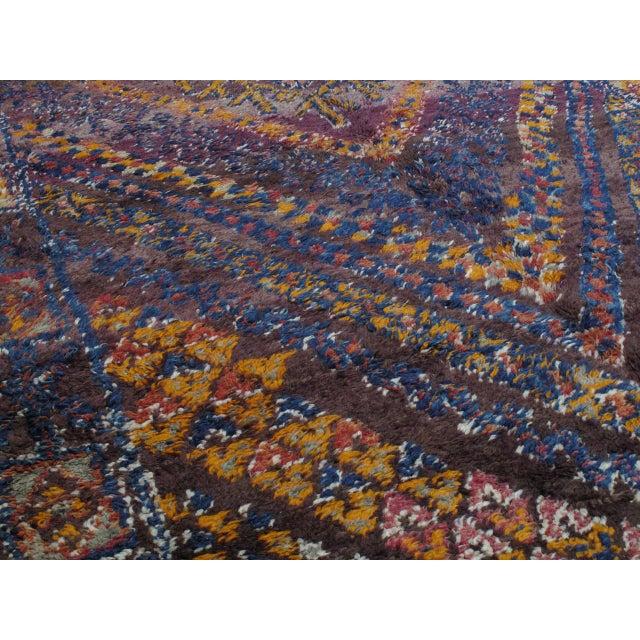 Primitive Beni Mguild Moroccan Berber Rug For Sale - Image 3 of 10