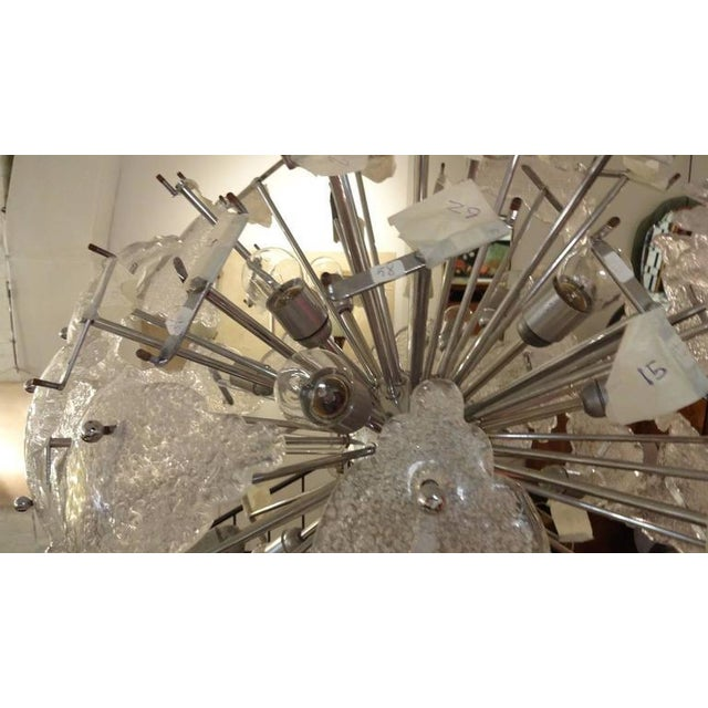 1960s Mazzega-Scale Mid-Century Glass Sputnik Chandelier, Italy For Sale - Image 10 of 10